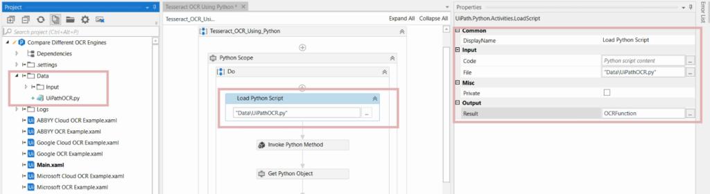 Step 2 Load Python OCR Script