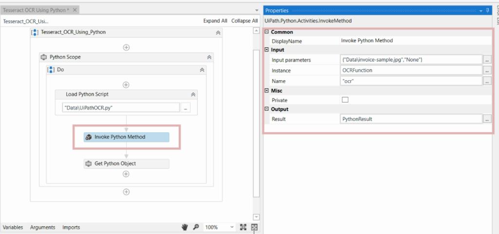 Step 3 Invoke Python OCR Script With Input