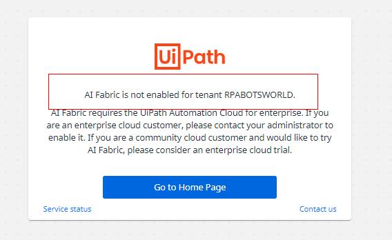 AI Fabric access the app