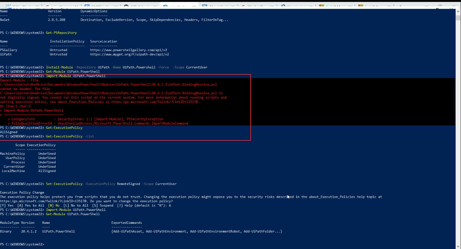 Azure devops UiPath Pipeline Execution Jobs logs