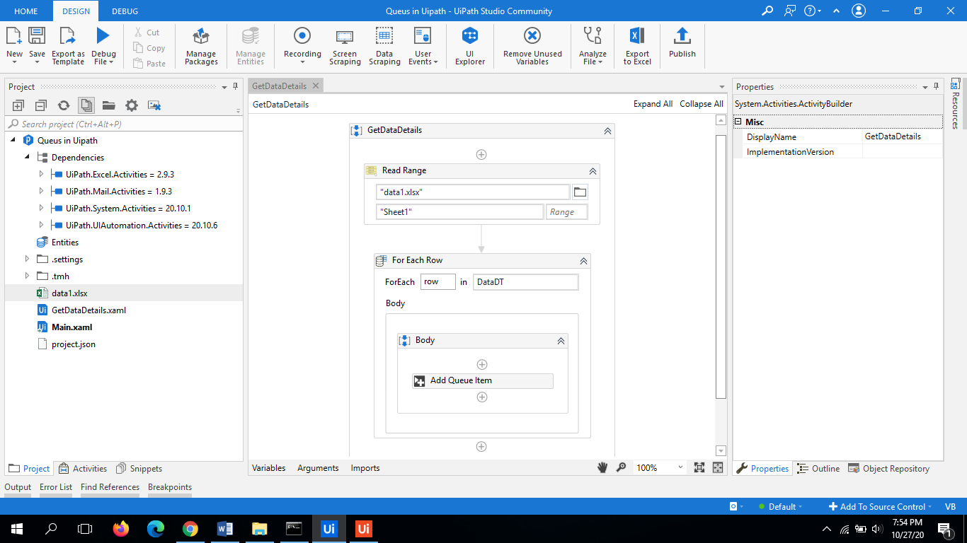 UiPath Queues | Working Example Step by Step Guide 3