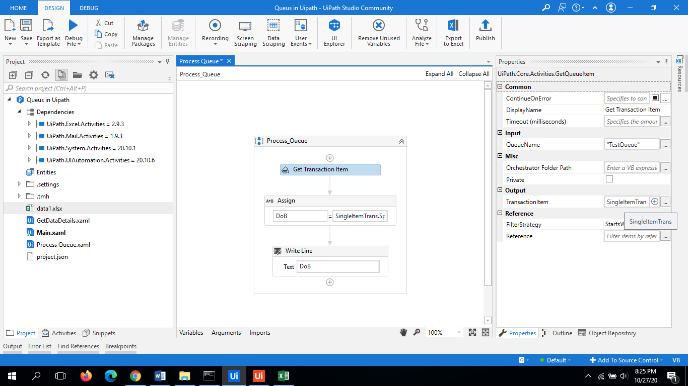 UiPath Queues | Working Example Step by Step Guide 6