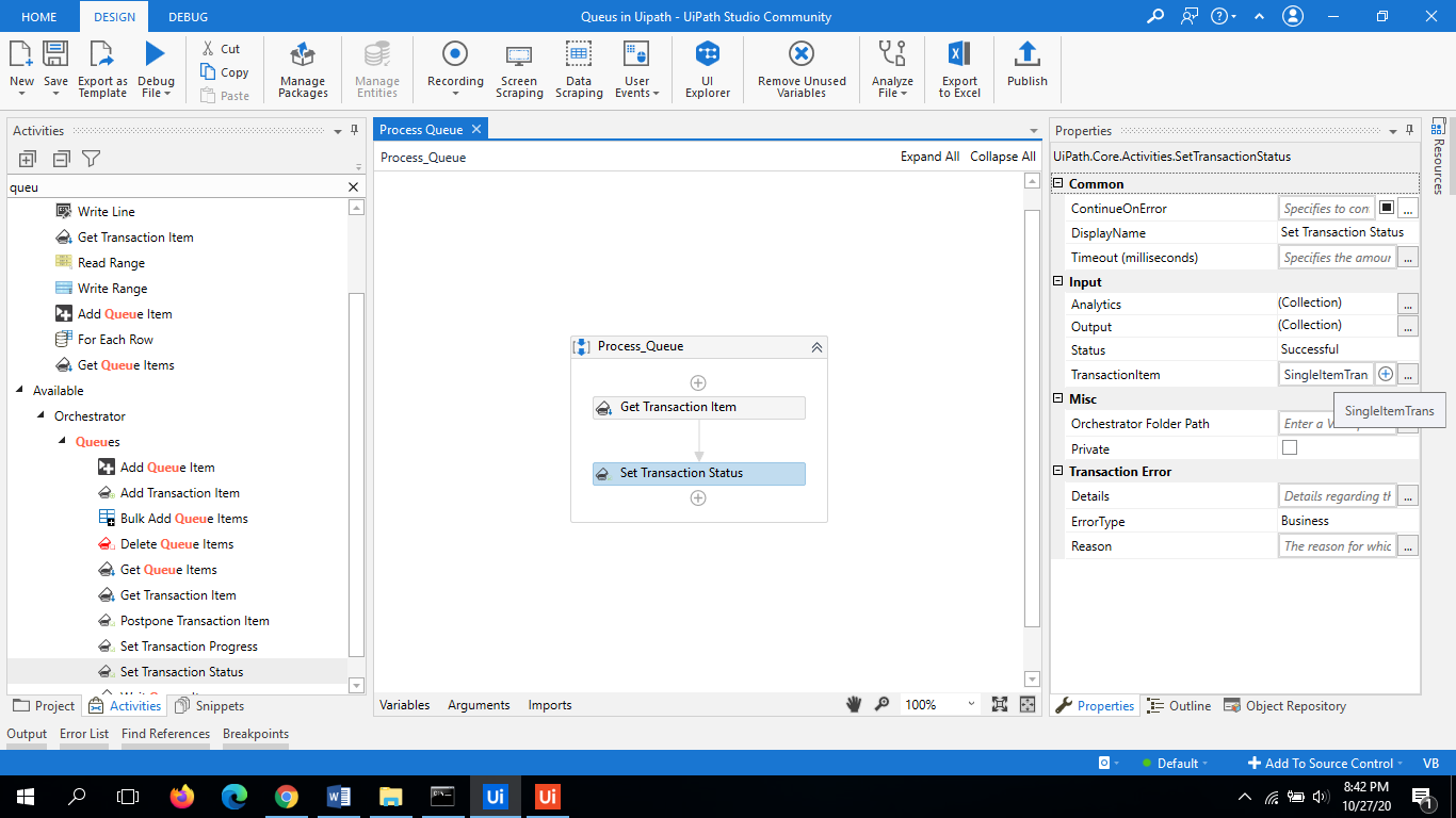UiPath Queues | Working Example Step by Step Guide 9