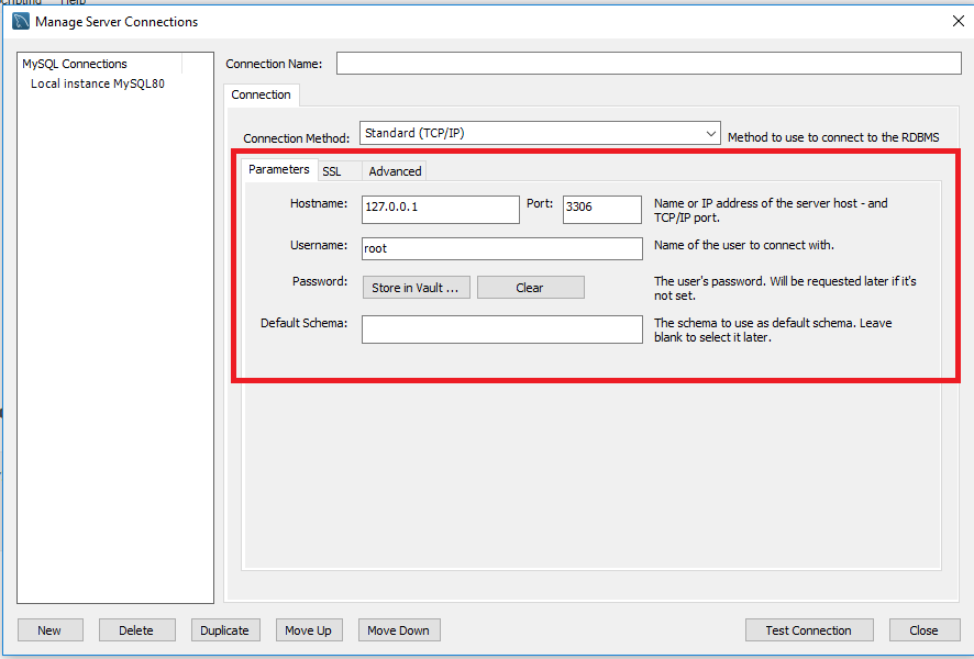 MySQL Server Connection Details for UiPath