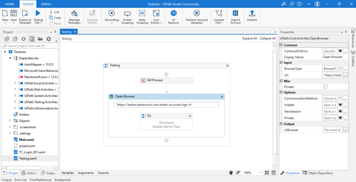 Working with UiPath Test Automation 9