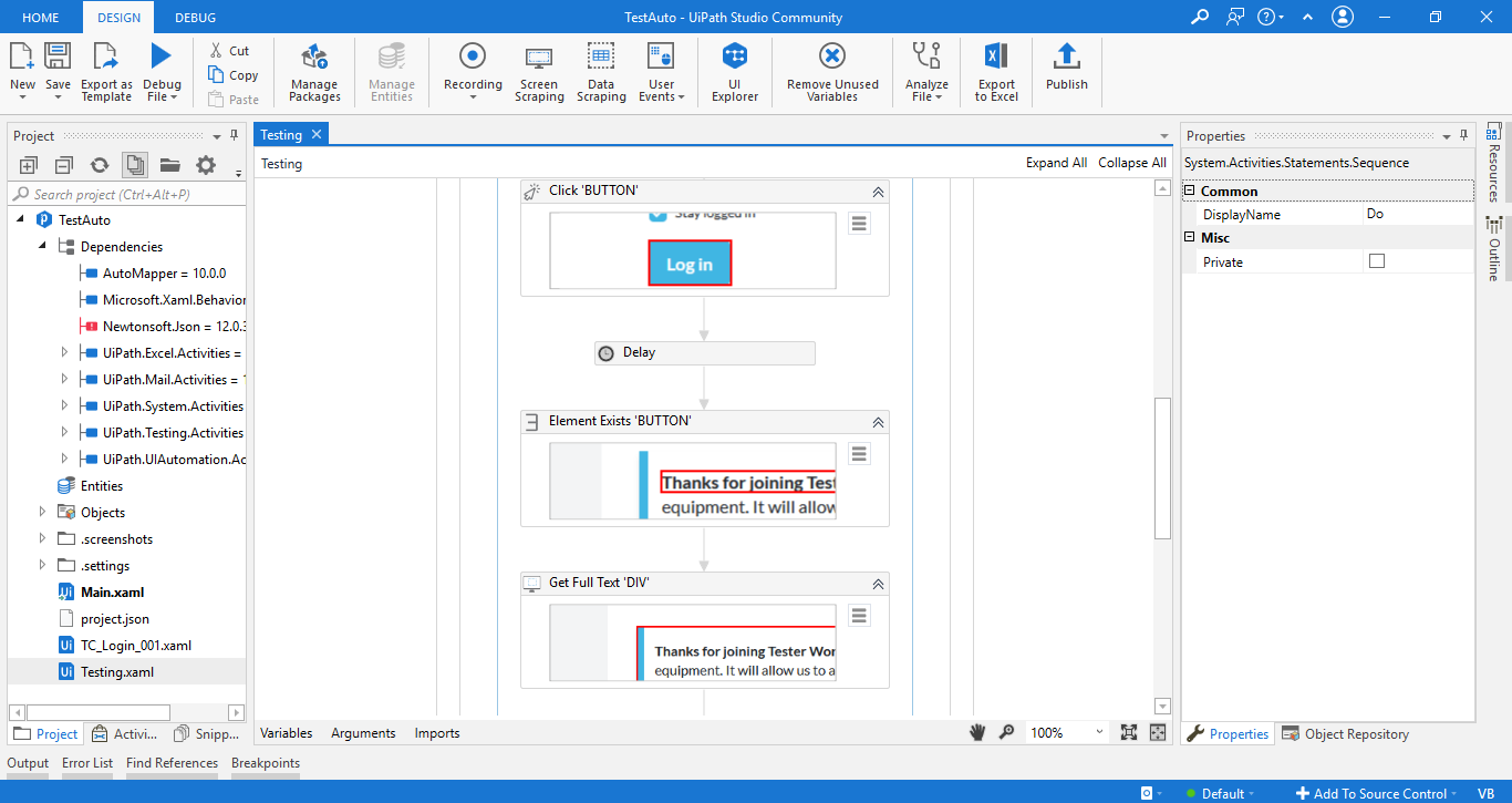 Working with UiPath Test Automation 11