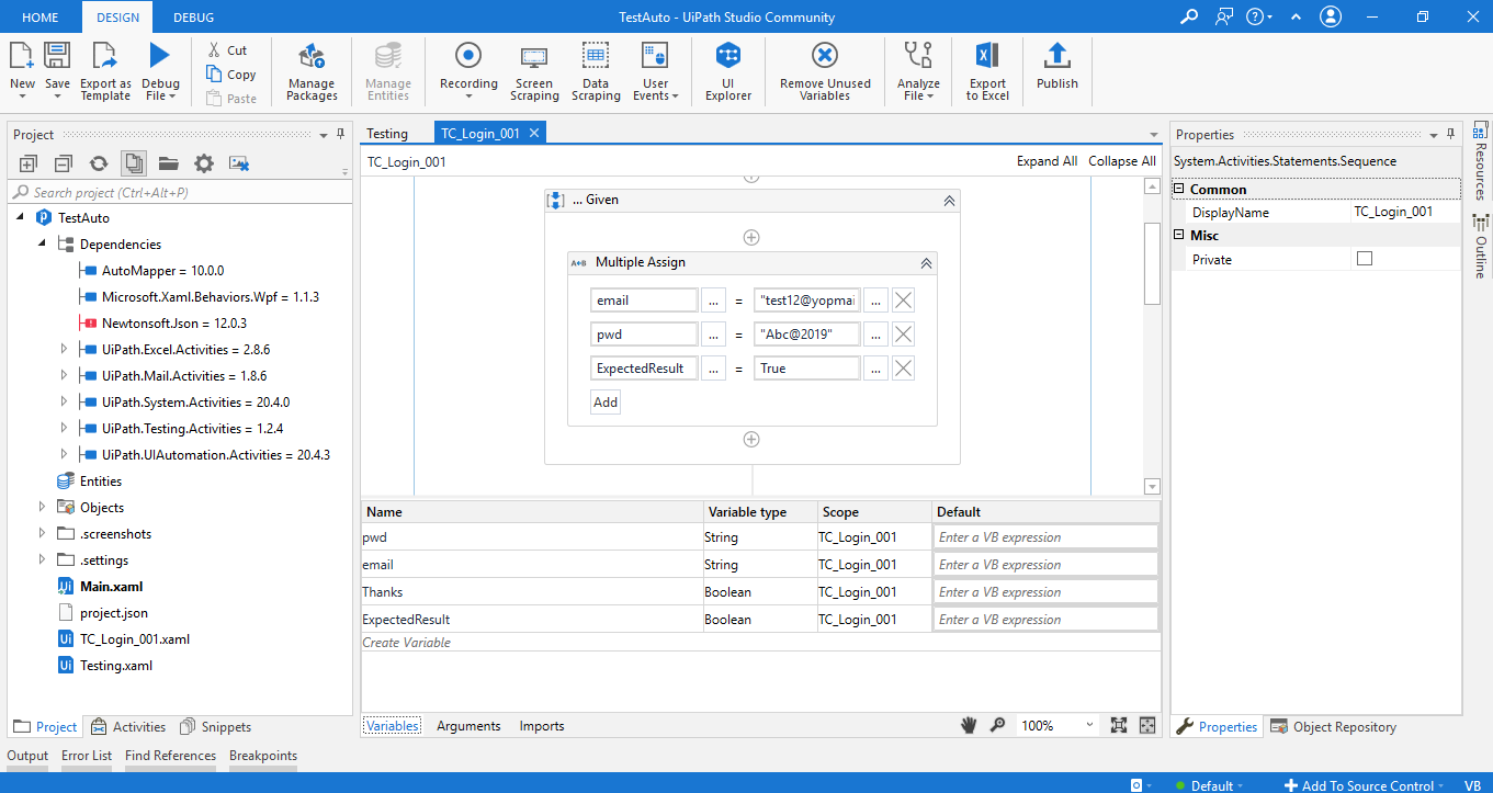 Working with UiPath Test Automation 14