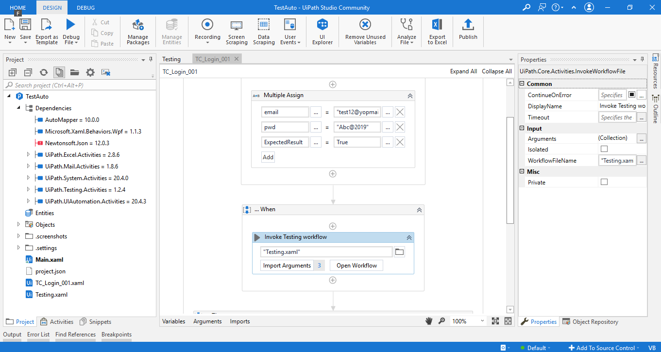 Working with UiPath Test Automation 15
