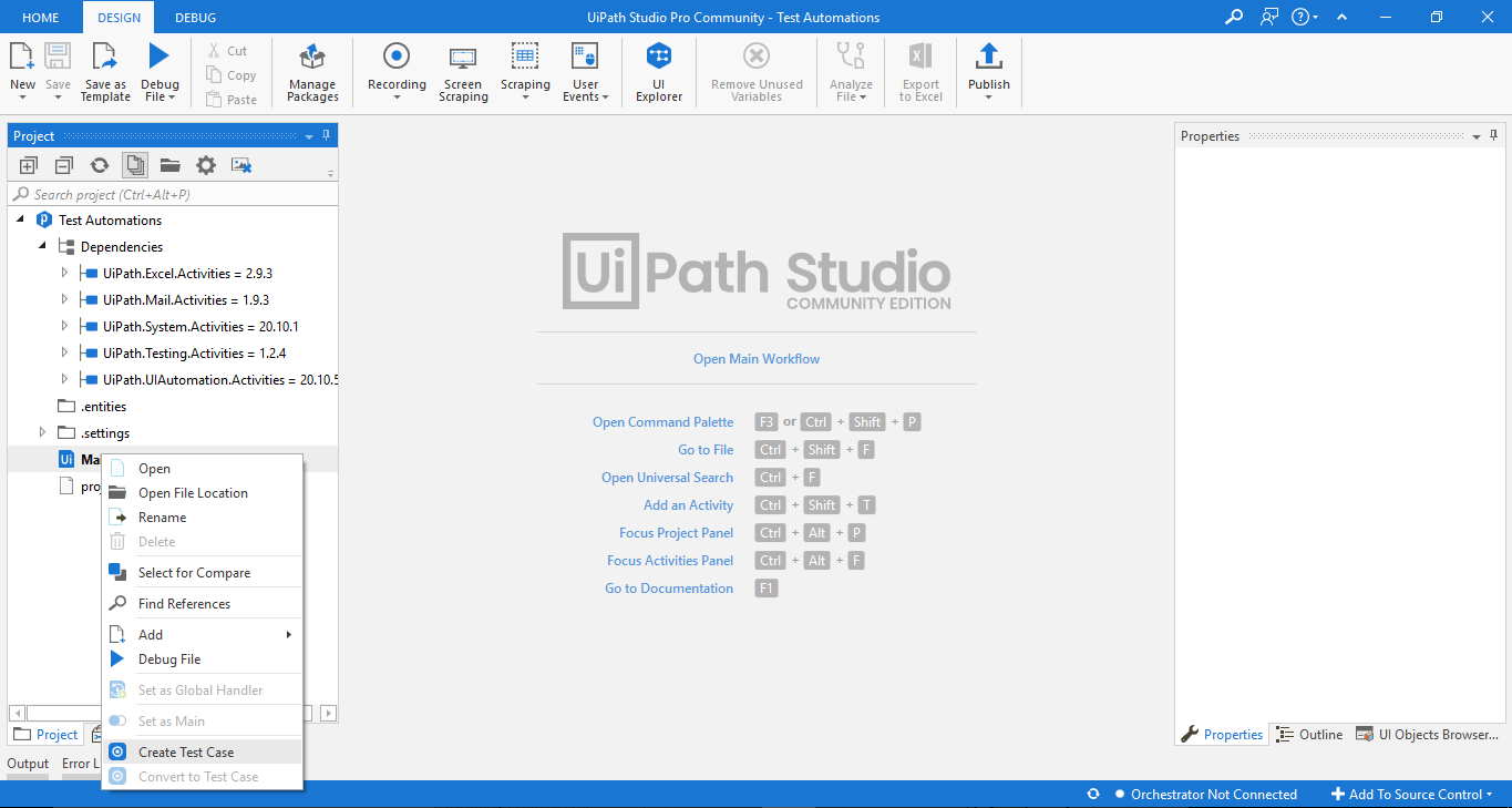 Working with UiPath Test Automation 7